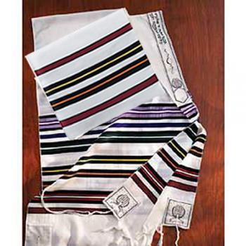 Bnai Or Wool Rainbow Talit