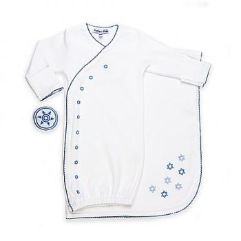 Bris Set with Blue Embroidery - Cotton