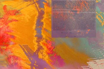 Burnt Orange Abstraction Ketubah