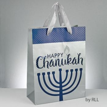 Chanukah Gift Bag with Glitter Accents
