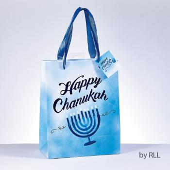 Chanukah Gift Bag with Foil Accents
