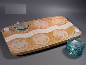Mezada Seder Plate - Jerusalem Stone