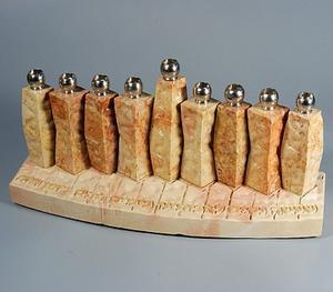Clarinets Menorah - Jerusalem Stone