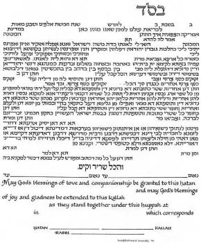 Shefa B'rachot - Royal Blue Ketubah