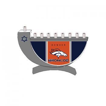 Denver Broncos Hanukkah Menorah
