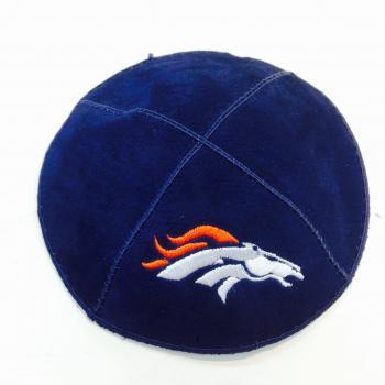 Denver Broncos Kippah - Suede