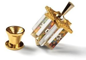 Udi Jerusalem Dreidel - Lucite and Bronze