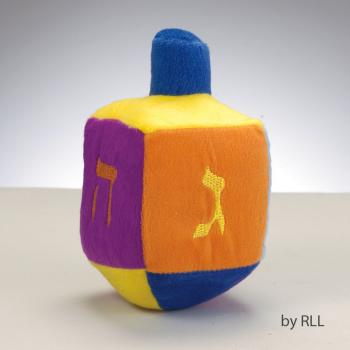 Plush Embroidered Musical Dreidel - Plays the Dreidel S...