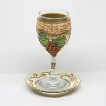Seven Species Kiddush Cup