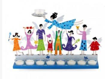 Family Menorah- White Colors