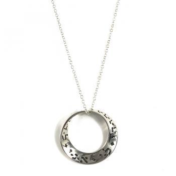 Ani L'Dodi Mobius Necklace - Sterling Silver