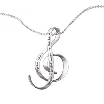 Make a Joyful Noise Necklace - Sterling Silver