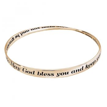 Priestly Blessing Mobius Sterling Gold Bangle Bracelet