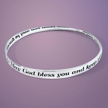 May God Bless You Mobius Bangle