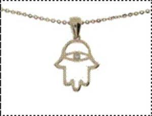 Hamsa Eye Necklace - Rose Gold