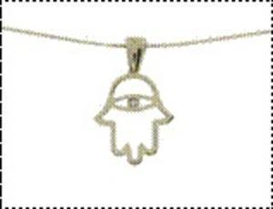 Hamsa Eye Necklace - Yellow Gold