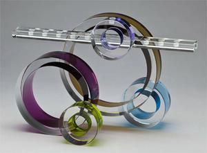 Ring of Light Menorah - Glass
