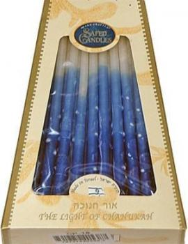 Premium Chanukkah Candles - Blue and White