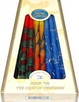 Premium Chanukkah Candles - Multicolor