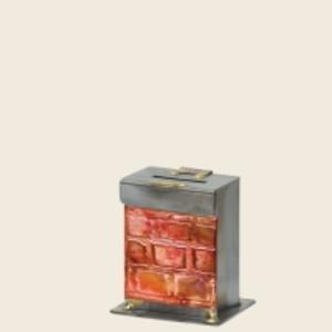 Western Wall Tzedakah Box - Glass, Steel, and Copper
