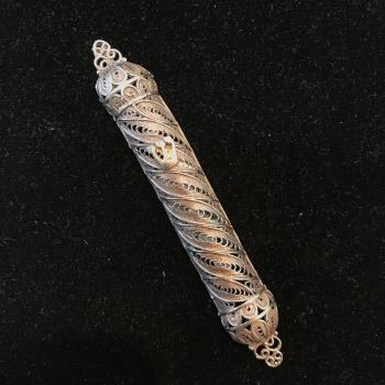 Sterling Silver Mezuzah small by Gershi