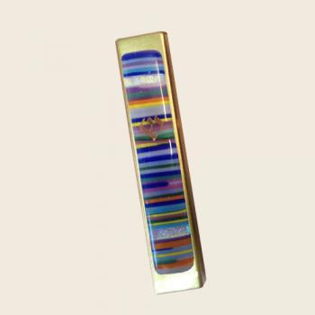 Rainbow Mosaic Kaballah Mezuzah