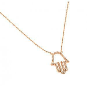 Sparkly Hamsa Necklace - Gold