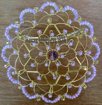 Gold Lavendar Star Wire Kepa