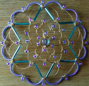 Gold Teal Purple Wire Kepa