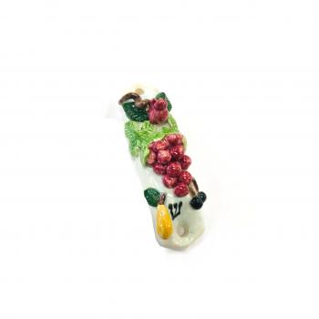 Grapes Mezuzah-Painted Porcelain