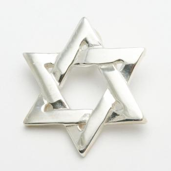 Star of David Pendant - Sterling Silver