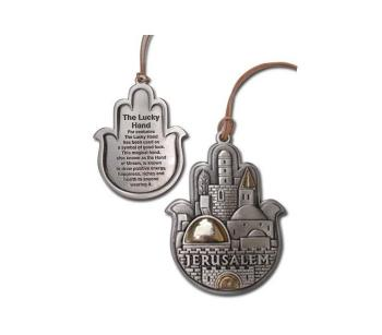 Jerusalem Hamsa with Spanish Home Blessing H-221