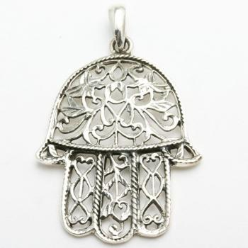 Filigree Hamsa - Sterling Silver