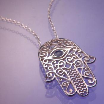 Hamsa with Eye Pendant