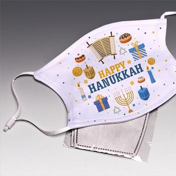 Happy Hanukkah Face Mask