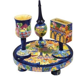 Oriental Havdalah Set - Painted Wood