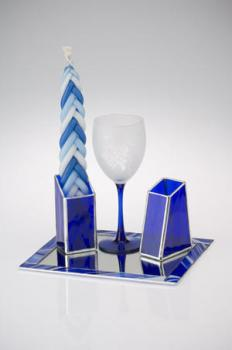 Baroque Blue Havdalah Set - Glass