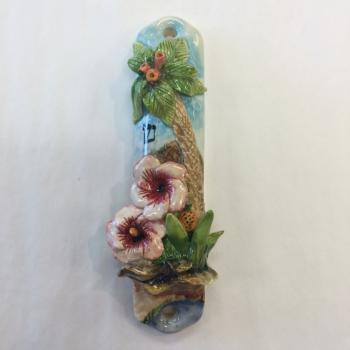Hawaii Mezuzah - Painted Porcelain