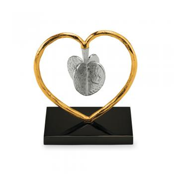Heart to Heart Dreidel - Nickelplate