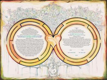 Heavenly Labyrinth Ketubah