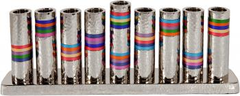 Multicolor Menorah - Nickel