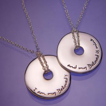 I Am My Beloved's Necklace - Sterling Silver