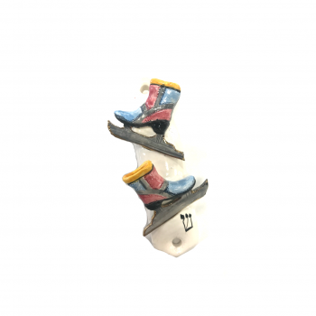 Ice Skate Mezuzah