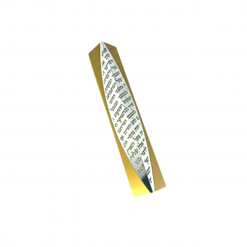 3D Mezuzah-Gold
