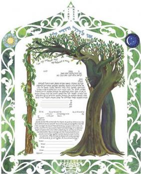 Interwined Trees Ketubah