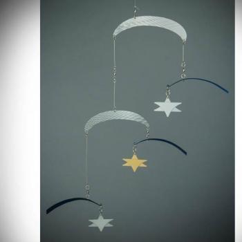 Flying Stars Air Sculpture Blue-Silver