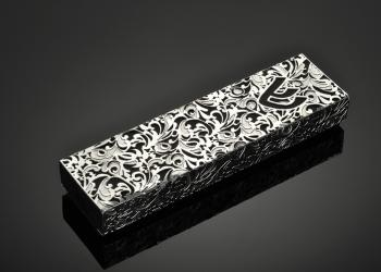Royal Jacquard M B Mezuzah - Stainless Steel
