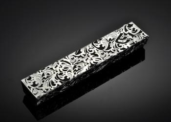 Royal Jacquard B Mezuzah - Metal