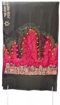 Scene of Jerusalem Talit - Silk Bijoux
