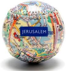 Jerusalem City Map Baseball